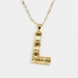 "ASOS gold plated necklaces w/ texture ""L"""